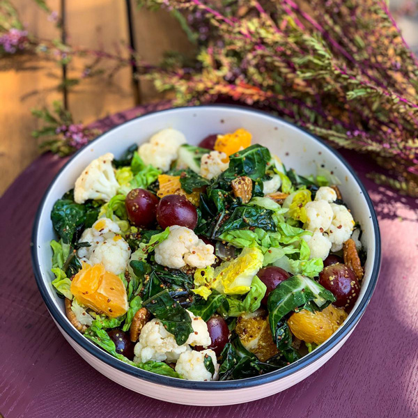 50--CAULIFLOWER,-GRAPES,-ORANGE,-PECANS-&-SILVERBEET-SALAD